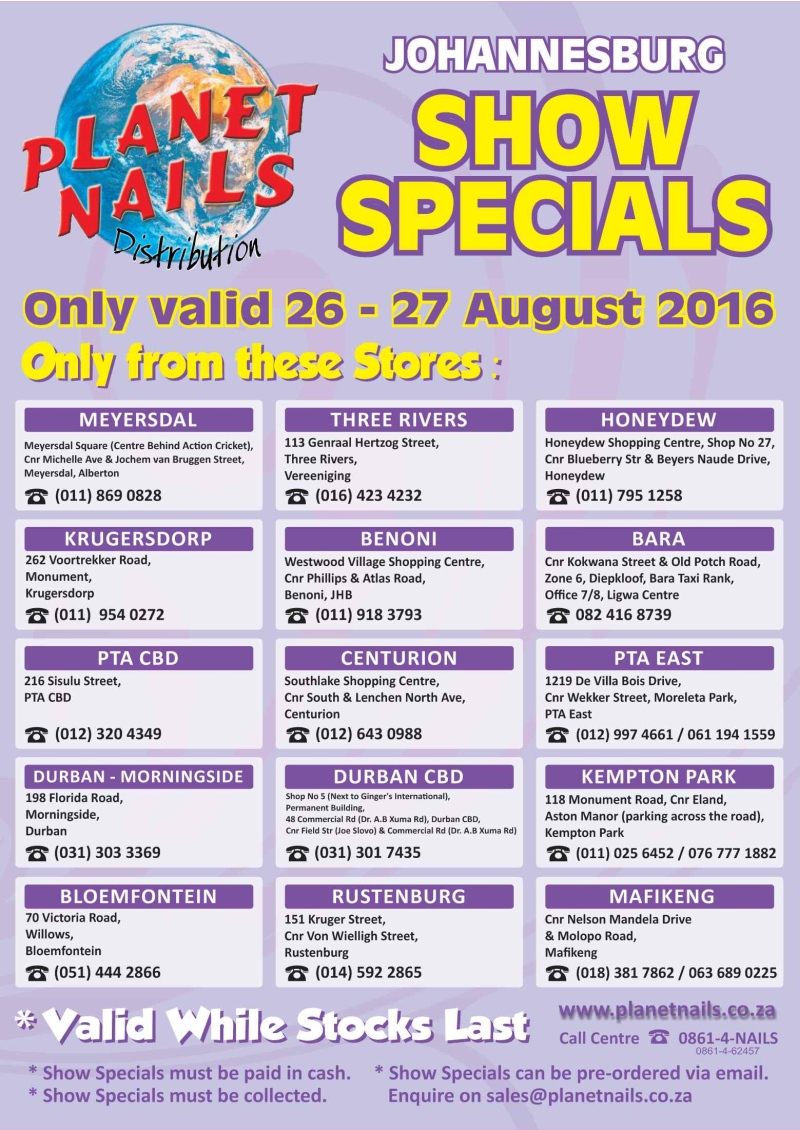 Planet Nails - Specials, monomer, acrylic, beauty, bargain, special ...