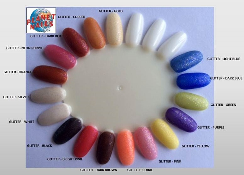 Planet Nails Coloured Acrylic Powders
