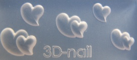 3-D Mould si004 Single & Double Heart