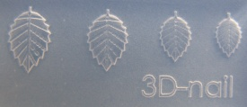 3-D Mould si010 Rose Leaves